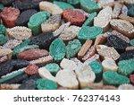 vintage handmade wooden... | Shutterstock . vector #762374143