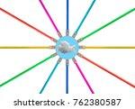 different colored cat5e... | Shutterstock . vector #762380587
