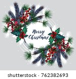 merry christmas. vector...   Shutterstock .eps vector #762382693