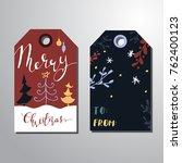 christmas gift tags set   Shutterstock .eps vector #762400123