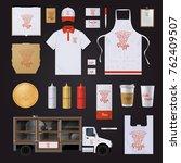 fast food restaurant corporate... | Shutterstock . vector #762409507