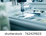 pcb processing on cnc machine... | Shutterstock . vector #762429823