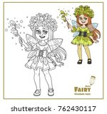 cute in a fairy costume dressed ... | Shutterstock .eps vector #762430117