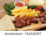 Shish Kebab Plate On The Table