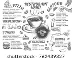 food menu for restaurant and... | Shutterstock .eps vector #762439327