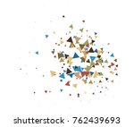 cool explosion  broken glass ... | Shutterstock .eps vector #762439693