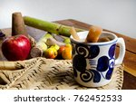 authentic fruit punch for... | Shutterstock . vector #762452533