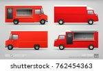 mock up set of red food truck... | Shutterstock .eps vector #762454363