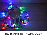 holiday lantern with very warm...   Shutterstock . vector #762470287