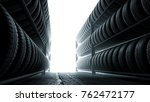 3d illustration  car tires rack ... | Shutterstock . vector #762472177