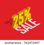 25  percent off  sale  golden... | Shutterstock .eps vector #762472447