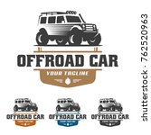 template of off road car logo ... | Shutterstock .eps vector #762520963
