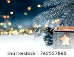 christmas tree decoration ...   Shutterstock . vector #762527863