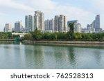 downtown building across yun... | Shutterstock . vector #762528313