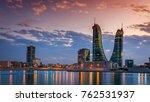 beautiful sky and bahrain... | Shutterstock . vector #762531937