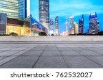 empty square floor and modern...   Shutterstock . vector #762532027