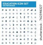 education icon set vector | Shutterstock .eps vector #762598327
