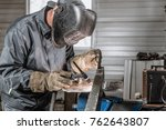 welder at work | Shutterstock . vector #762643807