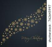 abstract golden christmas... | Shutterstock .eps vector #762645997