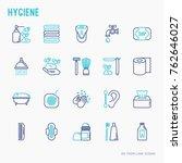 hygiene thin line icons set ... | Shutterstock .eps vector #762646027