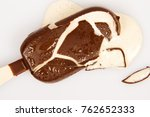 melted and cracked ice cream  | Shutterstock . vector #762652333
