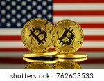 physical version of bitcoin and ... | Shutterstock . vector #762653533