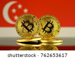 physical version of bitcoin and ... | Shutterstock . vector #762653617