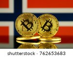physical version of bitcoin and ... | Shutterstock . vector #762653683