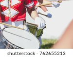 Several Drummers Girls In Red...