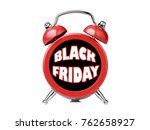 black friday clock alarm... | Shutterstock . vector #762658927