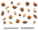 Isolated nuts pattern backdrop. ...