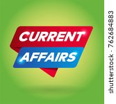 current affairs arrow tag sign. | Shutterstock .eps vector #762684883