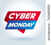 cyber monday arrow tag sign. | Shutterstock .eps vector #762685003