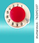 retro telephone background for... | Shutterstock . vector #762692107