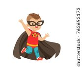 comic brave kid with trendy... | Shutterstock .eps vector #762692173