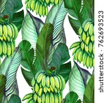 tropical seamless pattern with... | Shutterstock . vector #762693523