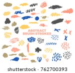 vector abstract brush strokes ... | Shutterstock .eps vector #762700393