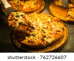 pickup pizza by pizza lap... | Shutterstock . vector #762726607