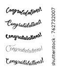 congratulations card.... | Shutterstock .eps vector #762732007
