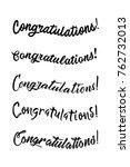 congratulations card.... | Shutterstock .eps vector #762732013