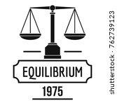 equilibrium logo. simple... | Shutterstock .eps vector #762739123