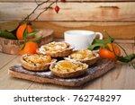 mini fruit tarts with... | Shutterstock . vector #762748297