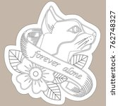sketch of old school tattoo. a... | Shutterstock .eps vector #762748327