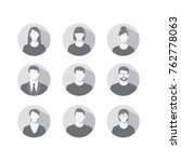 set of profile icons for men... | Shutterstock . vector #762778063