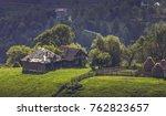 picturesque rural scenery with...   Shutterstock . vector #762823657