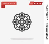 outline flower icon isolated on ...