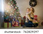 mother and daughter celebrate... | Shutterstock . vector #762829297