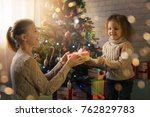 mother and daughter celebrate... | Shutterstock . vector #762829783
