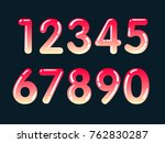 element  set of ten numbers... | Shutterstock .eps vector #762830287