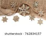 christmas decorations in retro... | Shutterstock . vector #762834157
